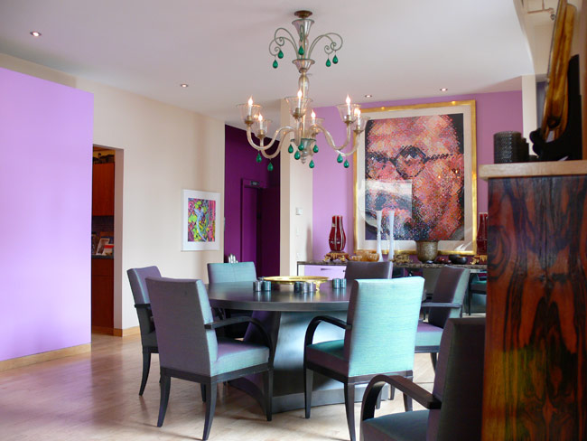 It 39 s a colorful life purple purple and more purple for Purple dining room ideas