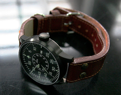 Laco Black Pilot's Watch Limited Edition