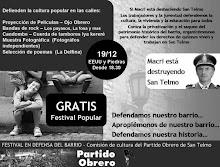Afiche del Festival del PO de San Telmo 19/12