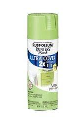 Rustoleum spray paint in Green Apple.