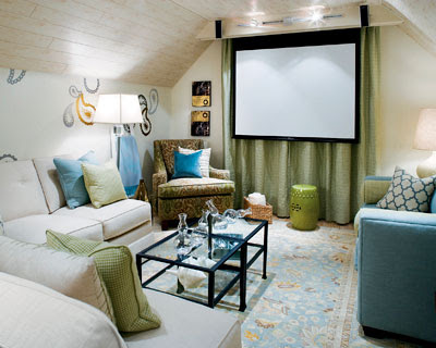 remodeled attic by interior designer Candice Olson from HGTV's Divine Design