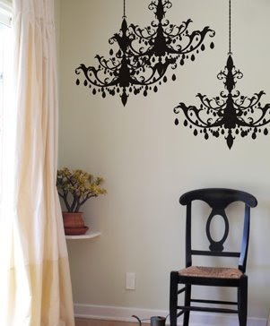 chandelier wall decal from Blik