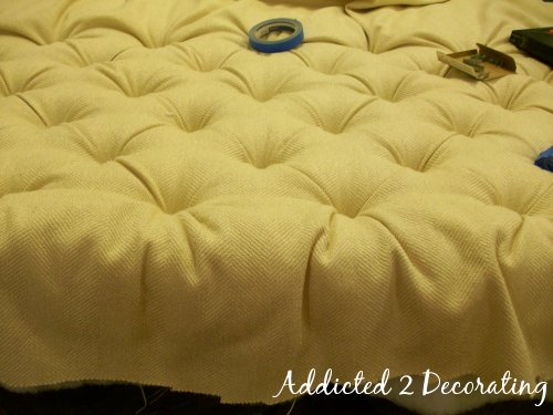 how to make a diamond tufted upholstered headboard. Black Bedroom Furniture Sets. Home Design Ideas