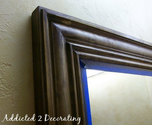 Framed Mirror From Builders-Grade Plate Glass Mirror