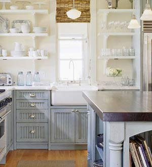 More Beautiful Gray Kitchens - Gray lower cabinets
