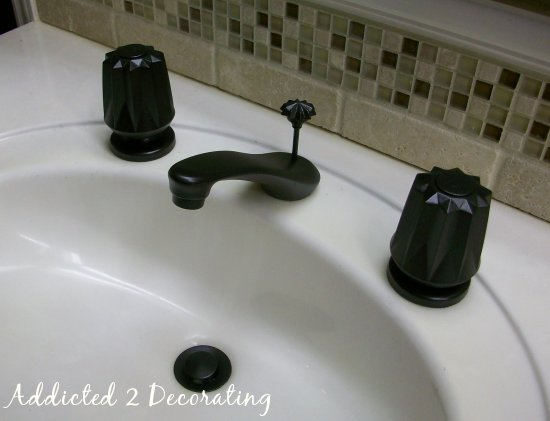 Painted Bathroom Faucets & Shower Enclosure