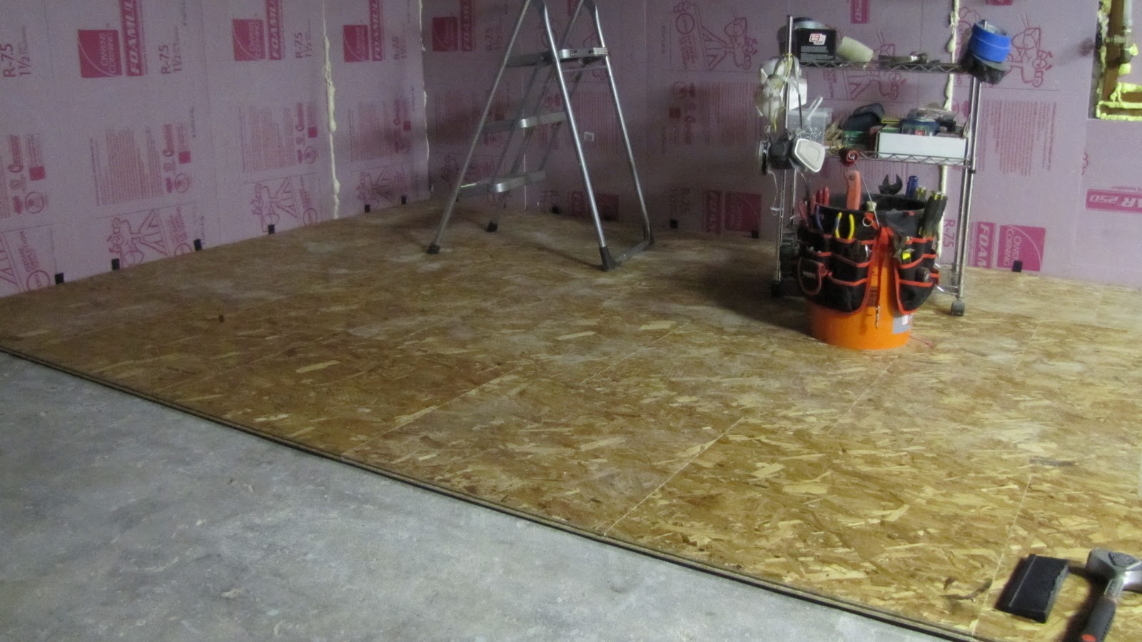 the glassman house basement subfloor