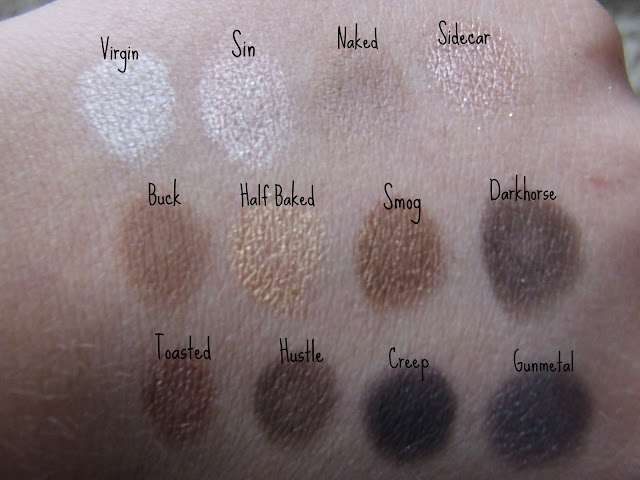 urban decay naked palette swatches swatch
