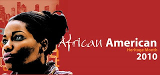African American Heritage Month logo-Houston Library