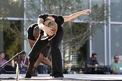 dancers outdoor modern dance performance