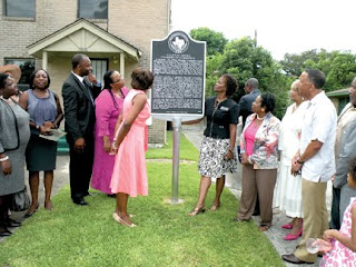 African American historical marker in Houston