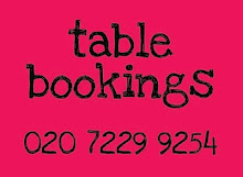 Table bookings are recommended...