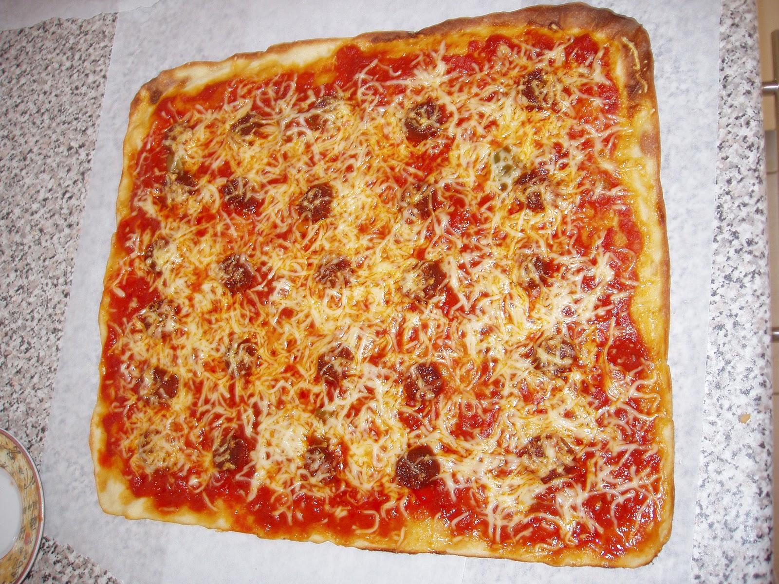 Ma cuisine mes origines pizza italienne fait maison - Recette de pate a pizza italienne ...