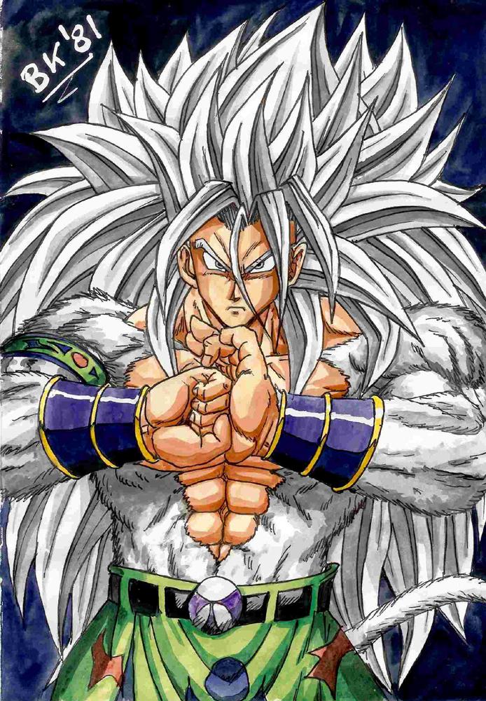 Dragon ball z cool pics ssj5 goku - Goku super sayan 5 ...