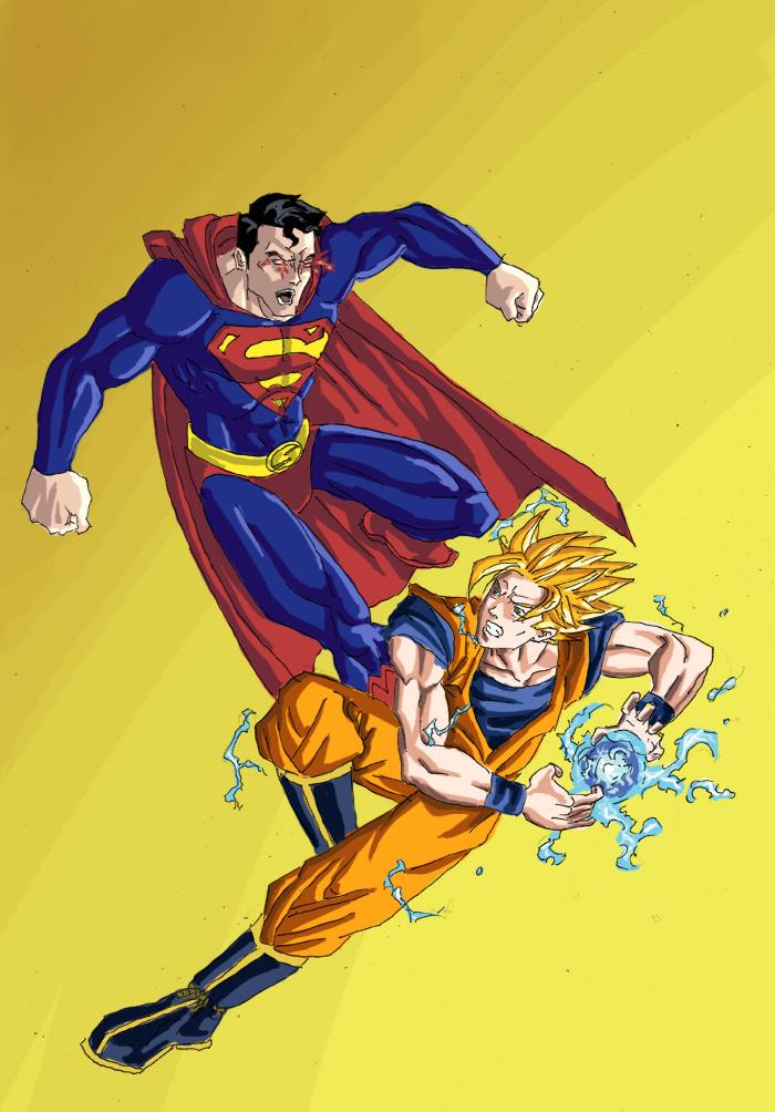 goku ssj3 vs superman - photo #26