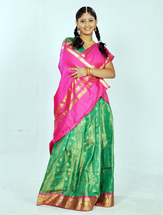 machakkanni amruthavalli in half saree glamour  images