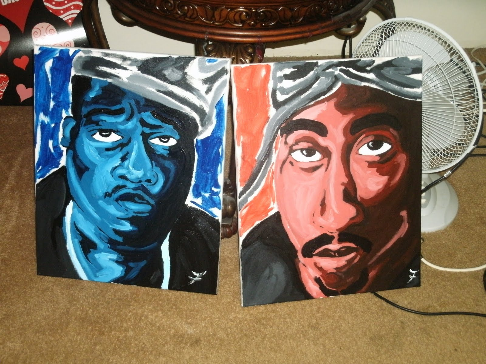 TREAL TOONZ LLC: New Biggie & 2Pac Paintings Tupac And Biggie Painting
