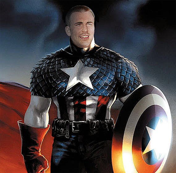 Chris Evans has been confirmed as Captain America so I made a Photoshop to