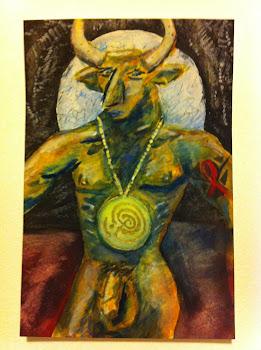 HIV+ Minotaur - self portrait