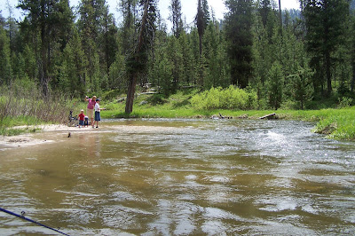 The family of flakes camping at silver creek plunge idaho for Silver creek idaho fishing