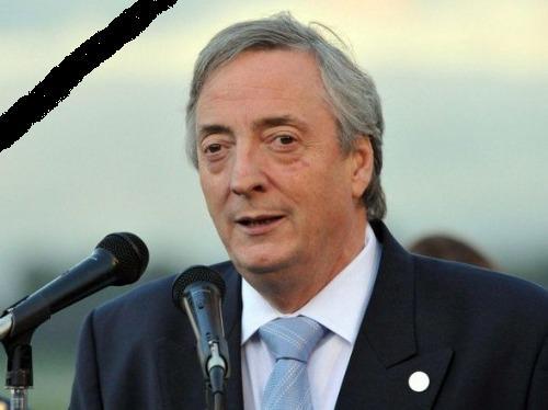 Nuestro Pésame y Condolencias a su Esposa Sra. Cristina Fernandez y Flia.