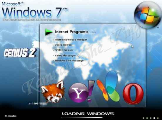 Windows Xp 7 Genius Edition 2010.Full.Updated.Working100/100