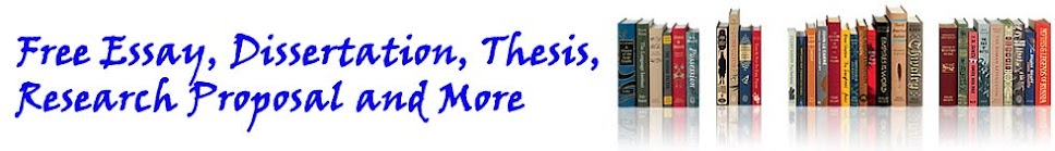 Free Essay, Research Proposal, Dissertation, Thesis and More