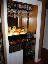 Closet Converted into Bar