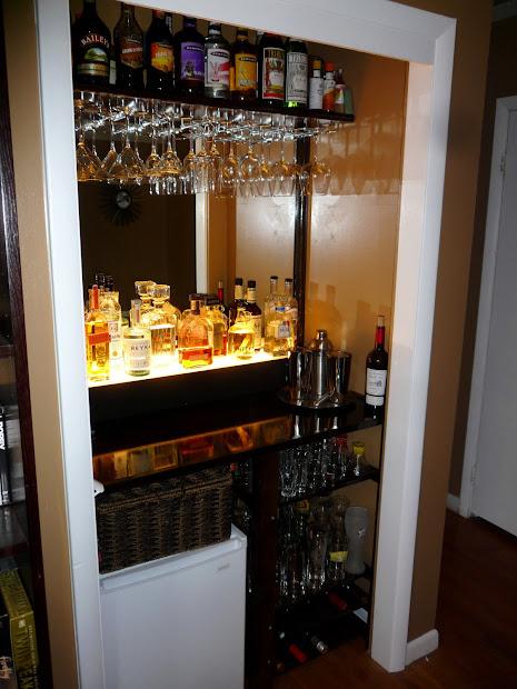 Closet Turned into Bar