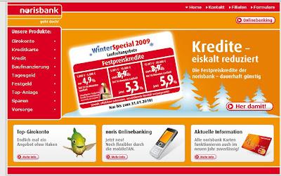 Norisbank Onlinebanking, Norisbank.de Online Banking