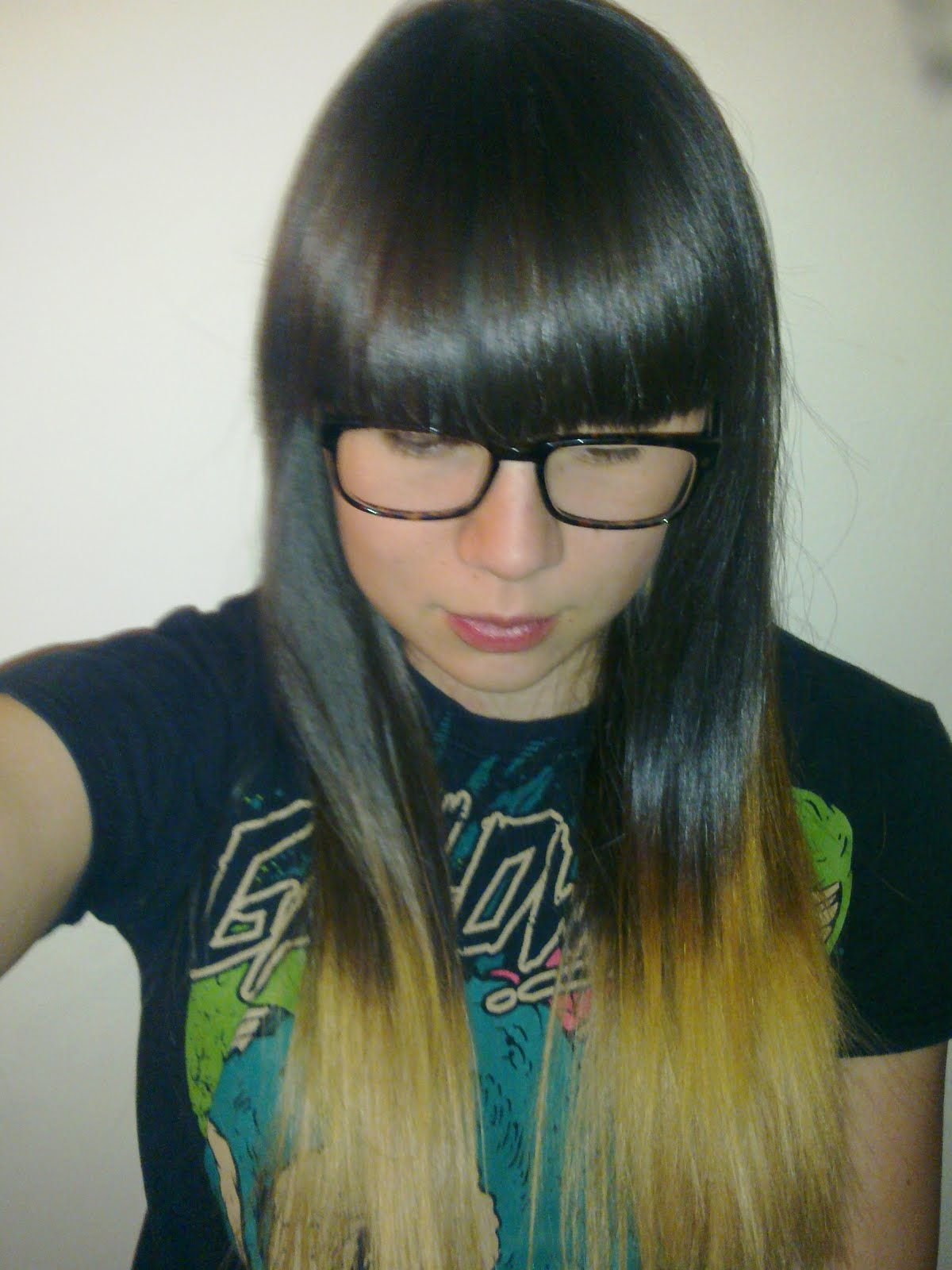 Dip+dyed+hair+colour