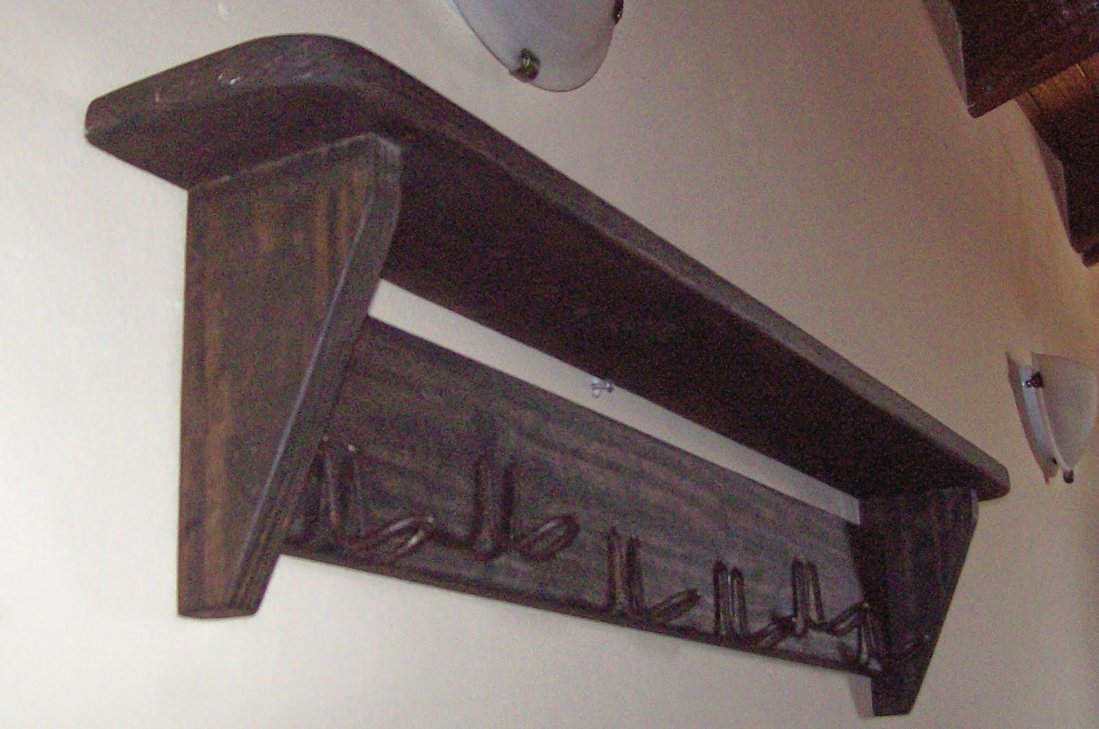Enhierroymadera estante perchero de madera - Percheros de madera ...