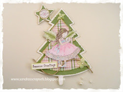 Kerstboom met ster kaart