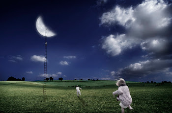 أنا والقمر ملاذى وأمانى