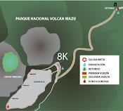Mapa volcán Irazú