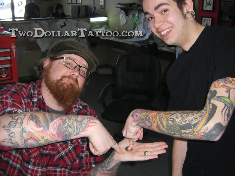 The two dollar tattoo project two dollar owl tattoo by ghandy for Hell or high water tattoo