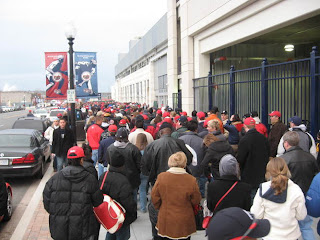 The Line Outside Nationals Park