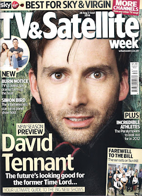 David Tennant on front cover of TV & Satellite Week magazine