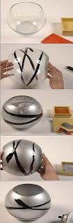 Decora tus viejos objetos de vidrio de manera sencilla y elegante