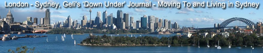 Geli's Down Under Journal - Moving To Sydney, Australia