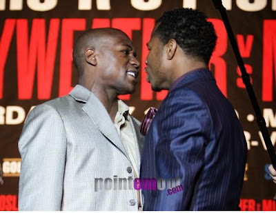 Mayweather vs Mosley Weigh In