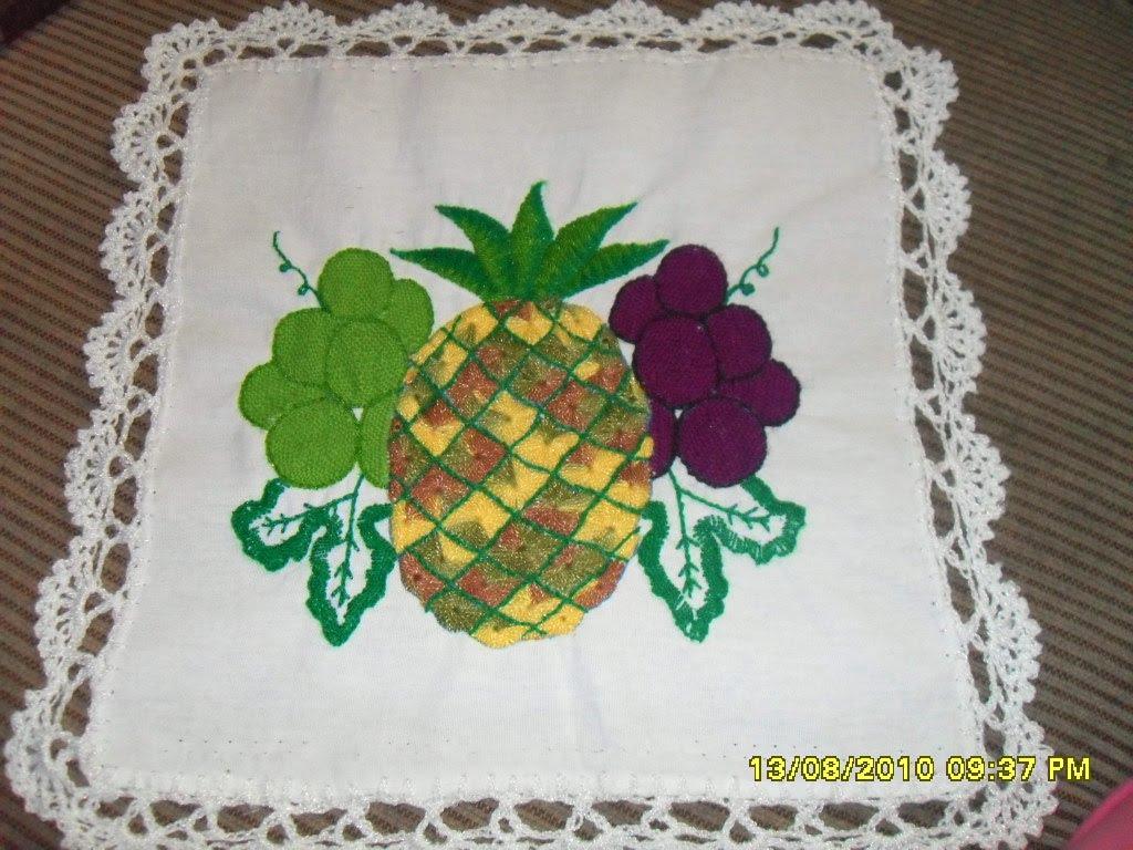mi primer servilleta en bordado de fantasia