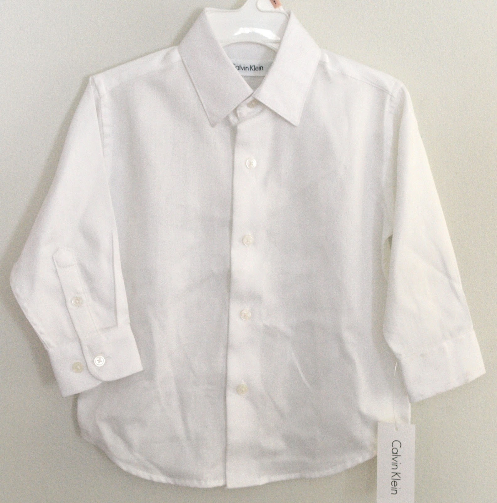 Pebbles Babies Calvin Klein Toddler Boy White Dress Shirt 2t