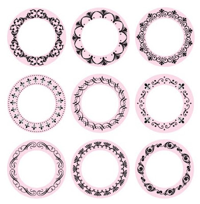 Or you can purchase a set of 9 Decorative Frame Borders