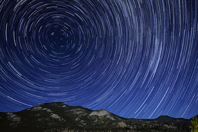 Rocky Mountain National Park  star trails