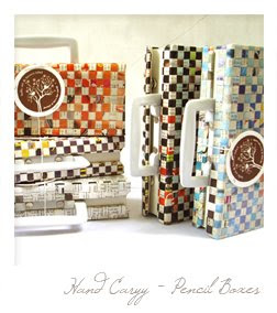 Hand carry pencil boxes at P180