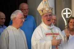 Il fondatore delle fraternità di Gerusalemme fratel Pierre-Marie e il nostro Vescovo Mons. Bianchi