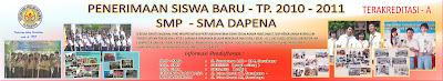 PENERIMAAN SISWA BARU tp. 2010 - 2011