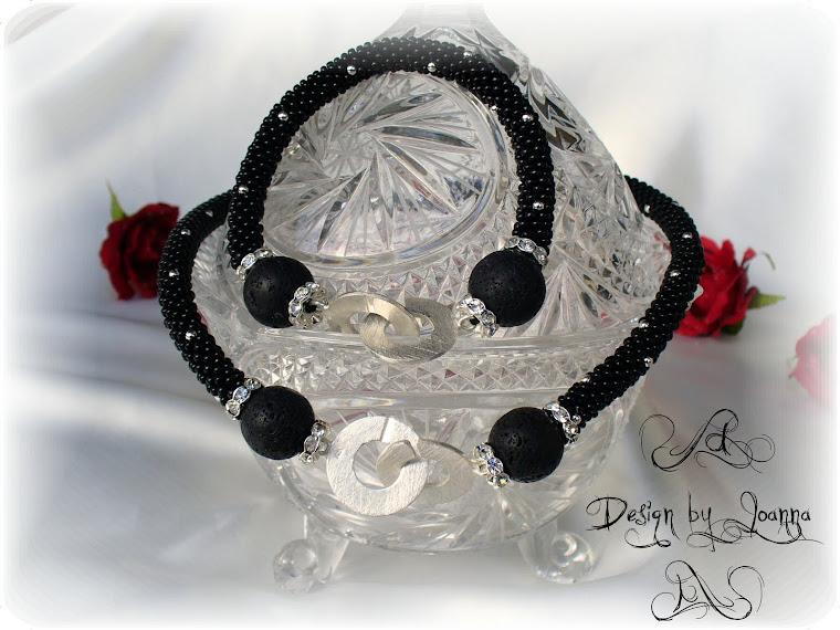 Schwarz-Silber Kette und Armband...
