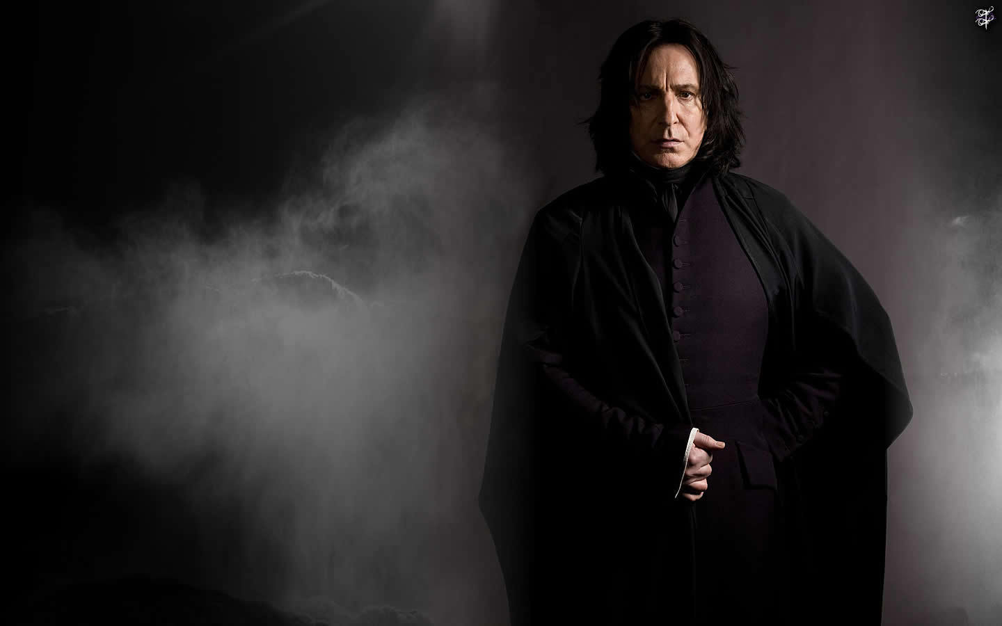 Well, I loved Snape's entrance, in full stride, cape billowing.